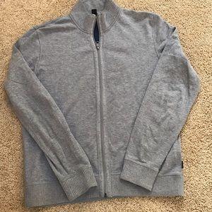 Hugo Boss Men's Grey medium zippered jacket